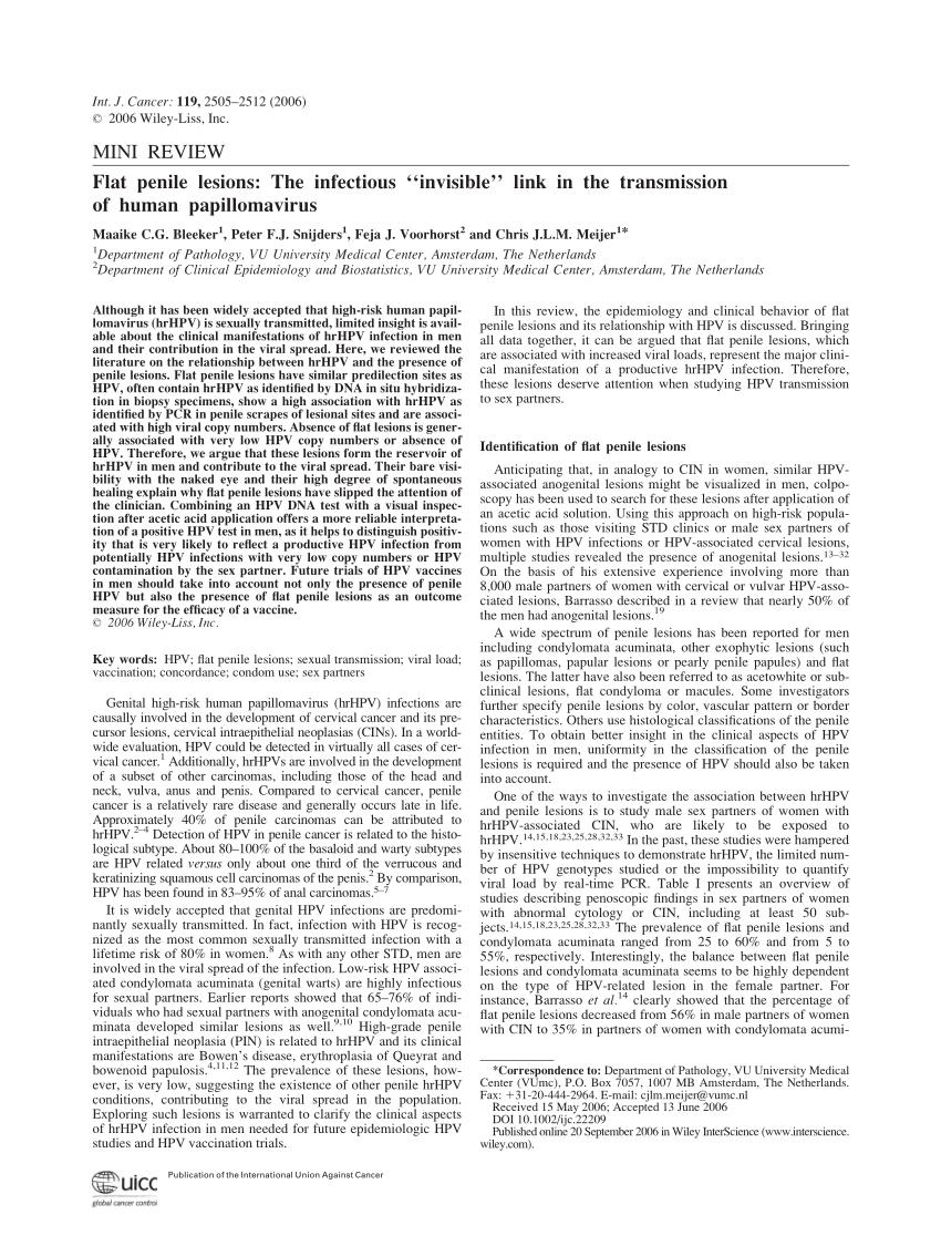 papillomavirus consequence chez l homme