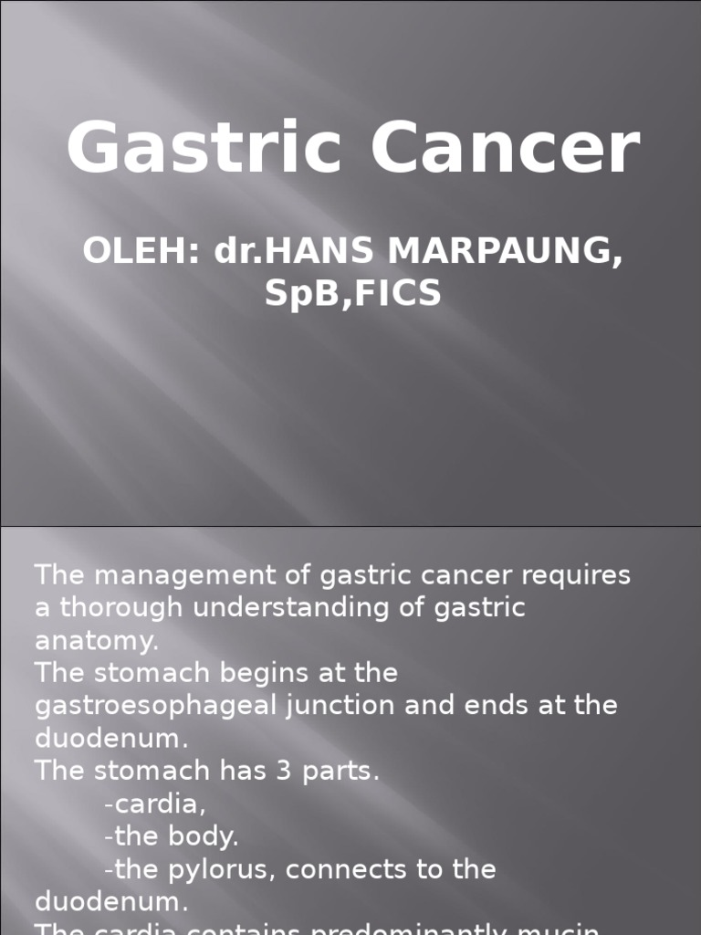cancerul gastric scribd)