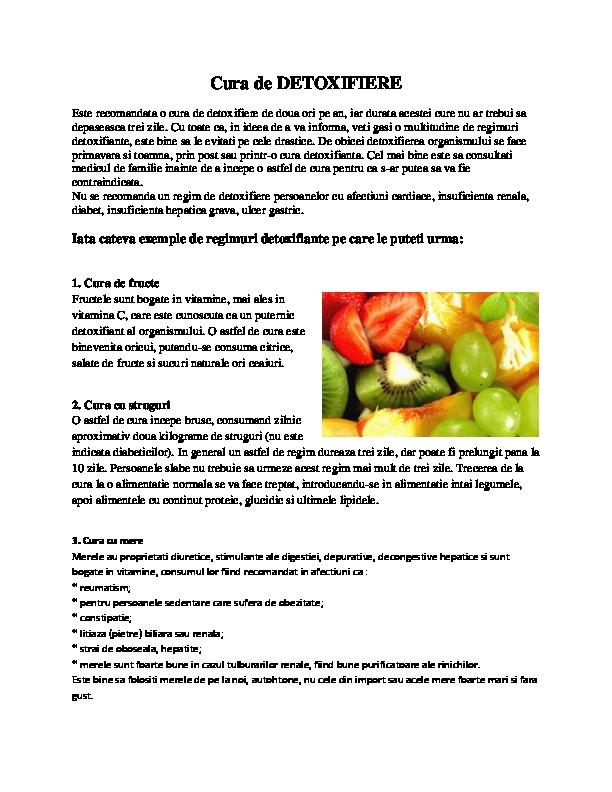 dieta de dezintoxicare a organismului)