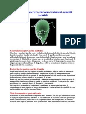 Giardioză - simptome și tratament