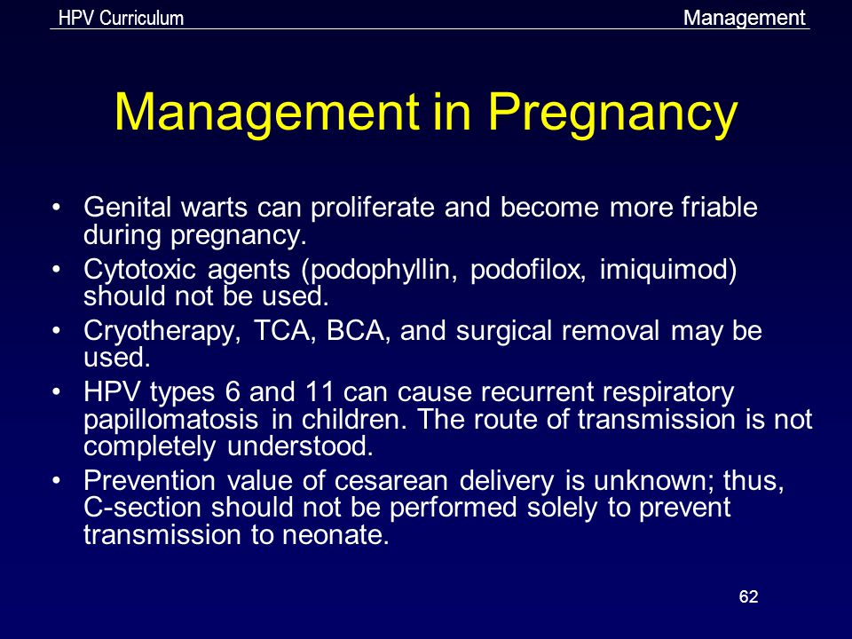 hpv cream and pregnancy