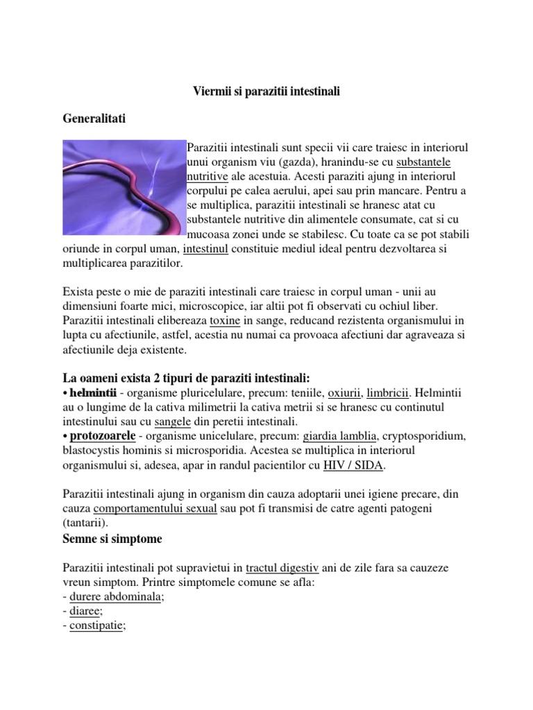 simptome de infecție cu paraziți umani papiloamele cauzează apariția