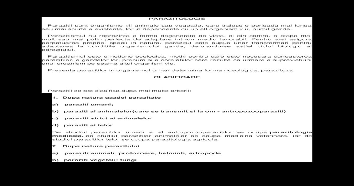 Viermi eozinofili sau protozoare